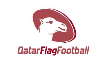 Negative space logo design by Qous Qazah