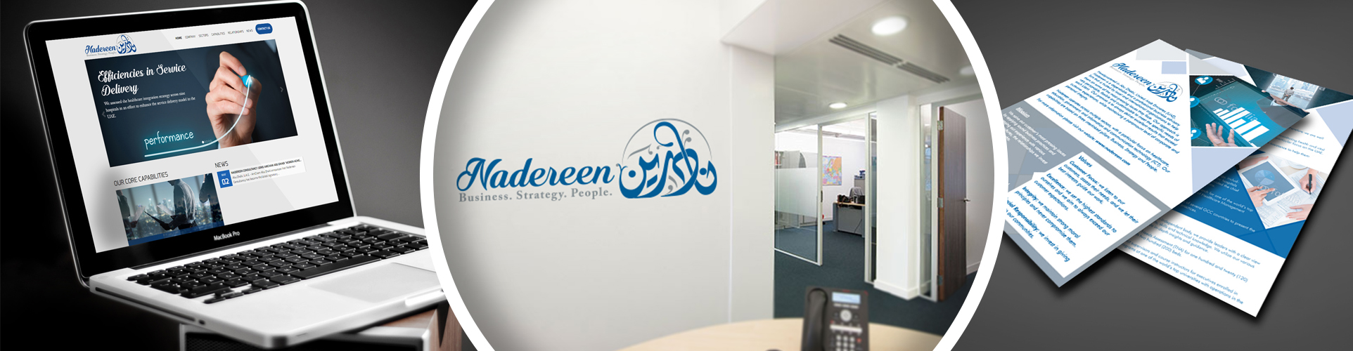 Logo Design, Web Development & Print Media for Nadereen