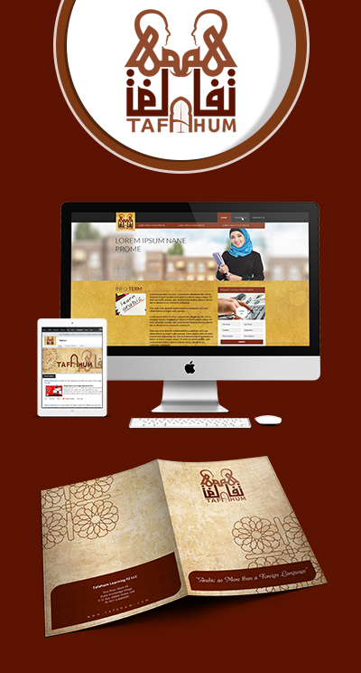 Logo Designing, Web Development and Print Media for Tafahum