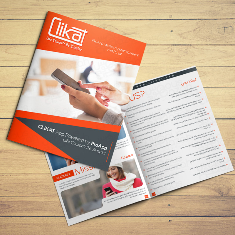 Clikat - Brochure Design