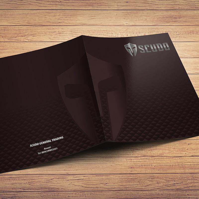 Scudo - Presentation Folder Design
