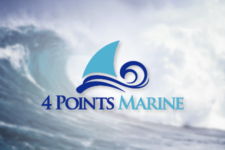 4 Points Marine Logo Design