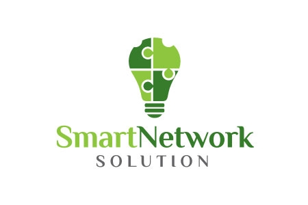 Smart Network Solution Logo Design