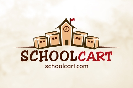 School Cart Logo Design