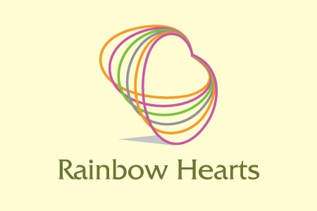 Rainbow Hearts Logo Design