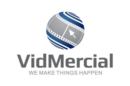 Vidmercial Logo Design