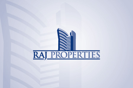 Raj Properties Logo Design