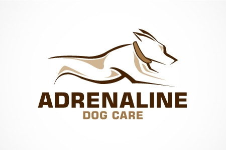 Adrenaline Dog Care Logo Design