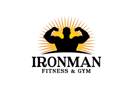 Iron Man Fitness & Gym Logo Design
