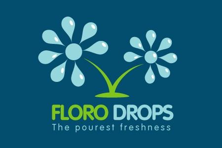 Floro Drops Logo Design