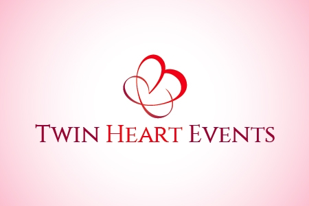 Twin Heart Events Logo Design