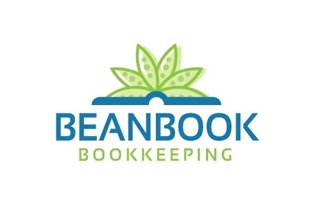 Bean Book Bookkeeping Logo Design