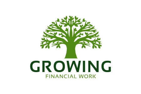 Growing Financial Work Logo Design