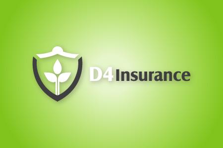 D4 Insurance Logo Design