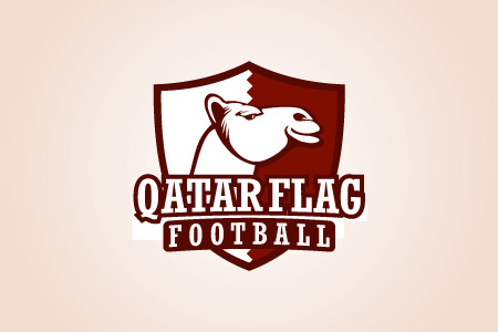 Qatar Flag Football Logo Design
