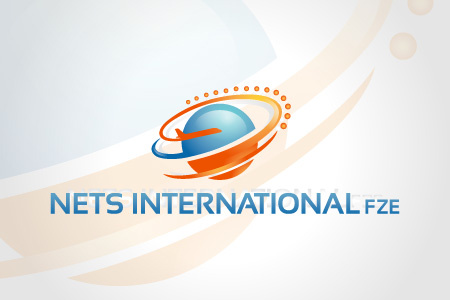 Nets international logo design by qousqazah in dubai uae for International design company
