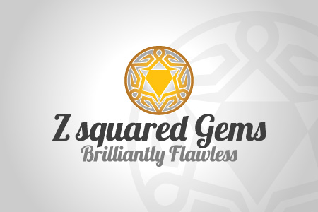 Z Squared Gems Logo Design