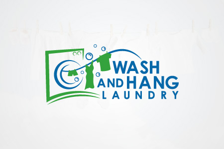 Wash and Hang Laundry Logo Design