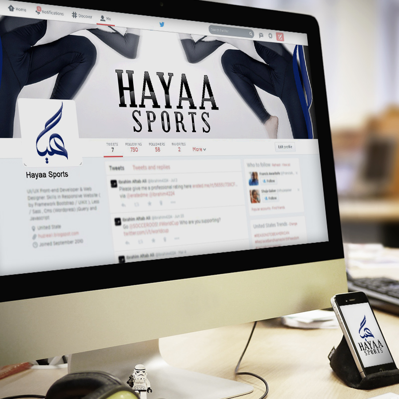 Hayaa Sports Social Media Banner Design
