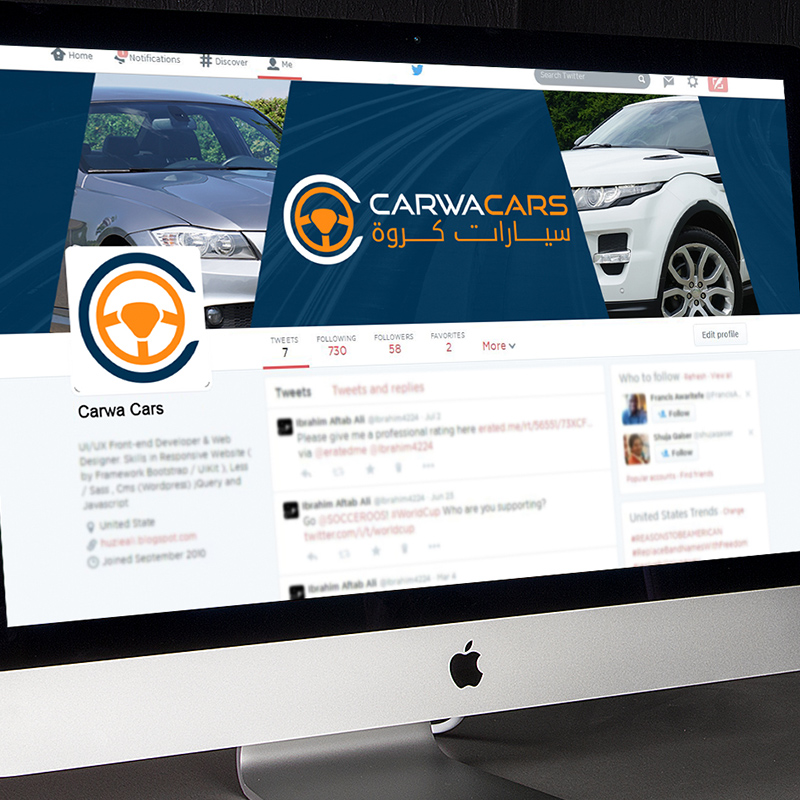 Carwah Cars Social Media Banner Design