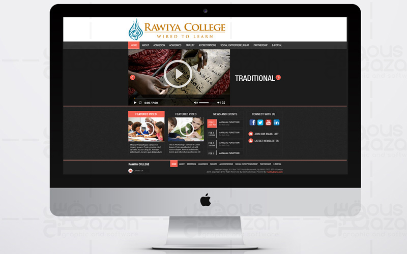 Rawiya College Website Design