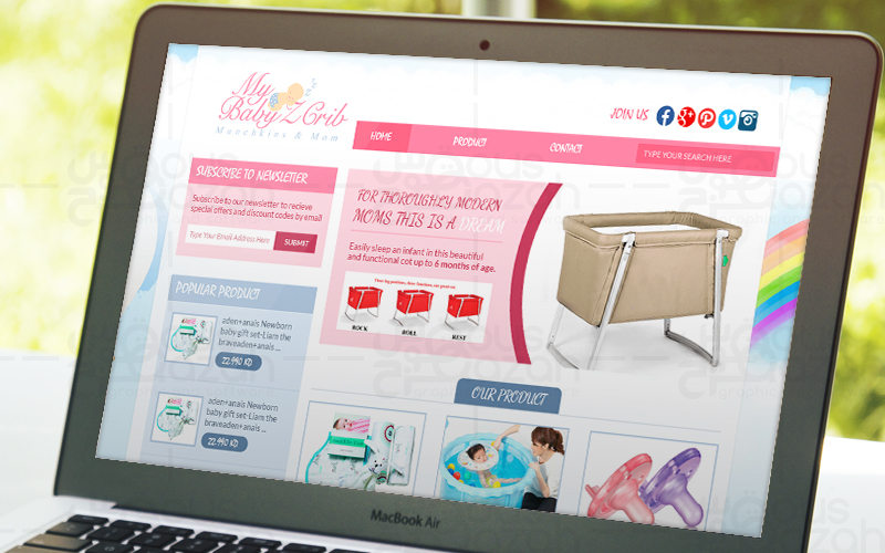My Baby'z Crib - Website Design