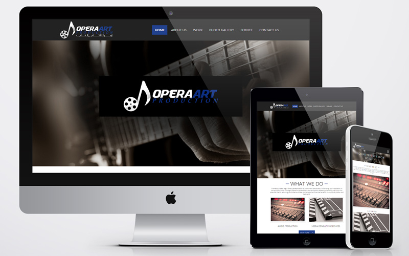 Opera Art - Website Design