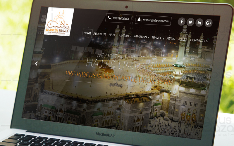 Shaheen Travels - Website Design