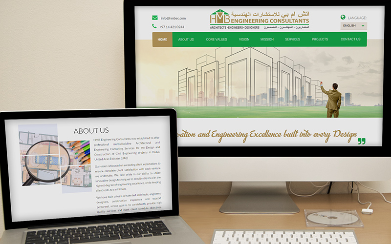 HMB Engineering - Website Design