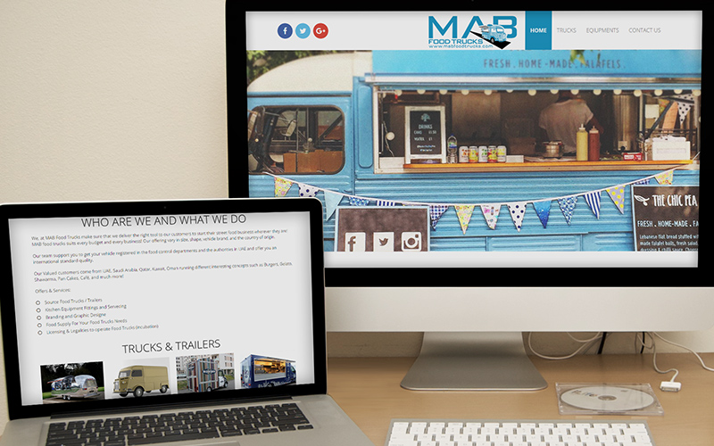 MAB Food Trucks - Website Design