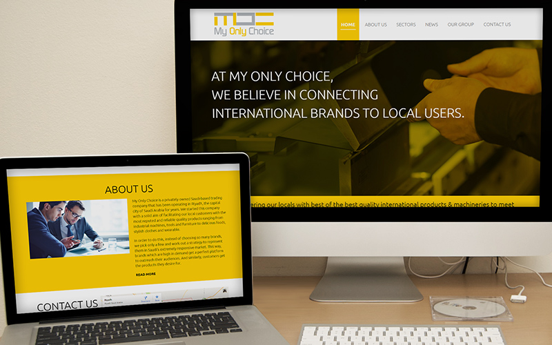 My Only Choice - Website Design
