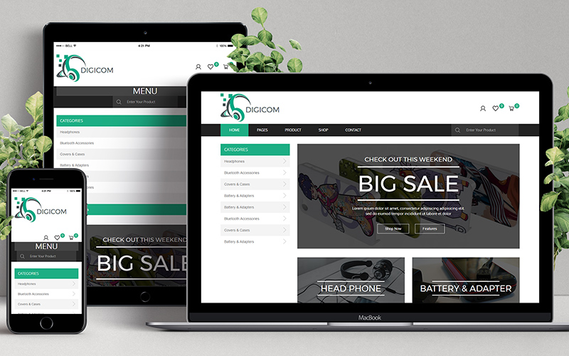 Digicom - Website Design