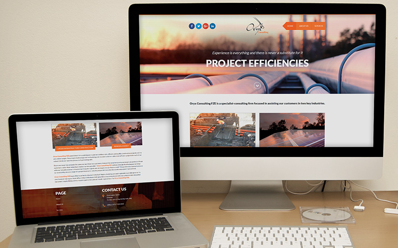 Oryx Consulting - Website Design